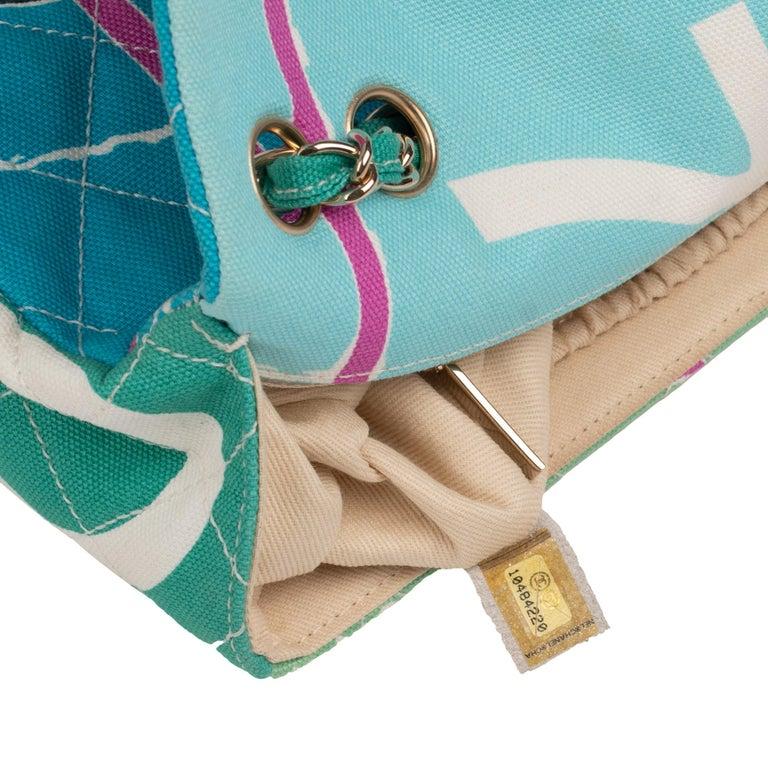 Chanel Canvas Shoulder Bag For Sale 8