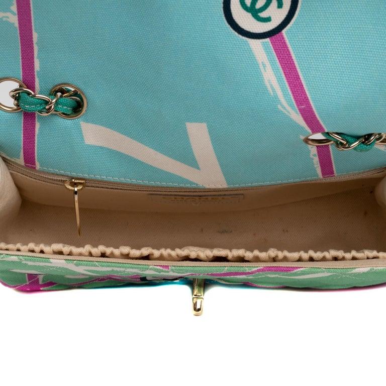 Women's Chanel Canvas Shoulder Bag For Sale