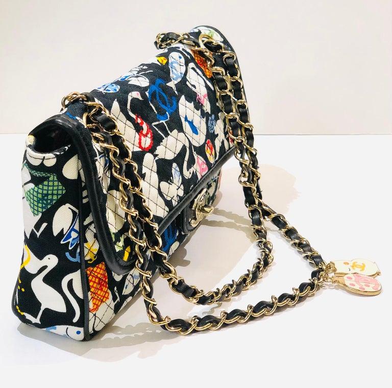 Women's or Men's Chanel Printed Canvas Shoulder Bag
