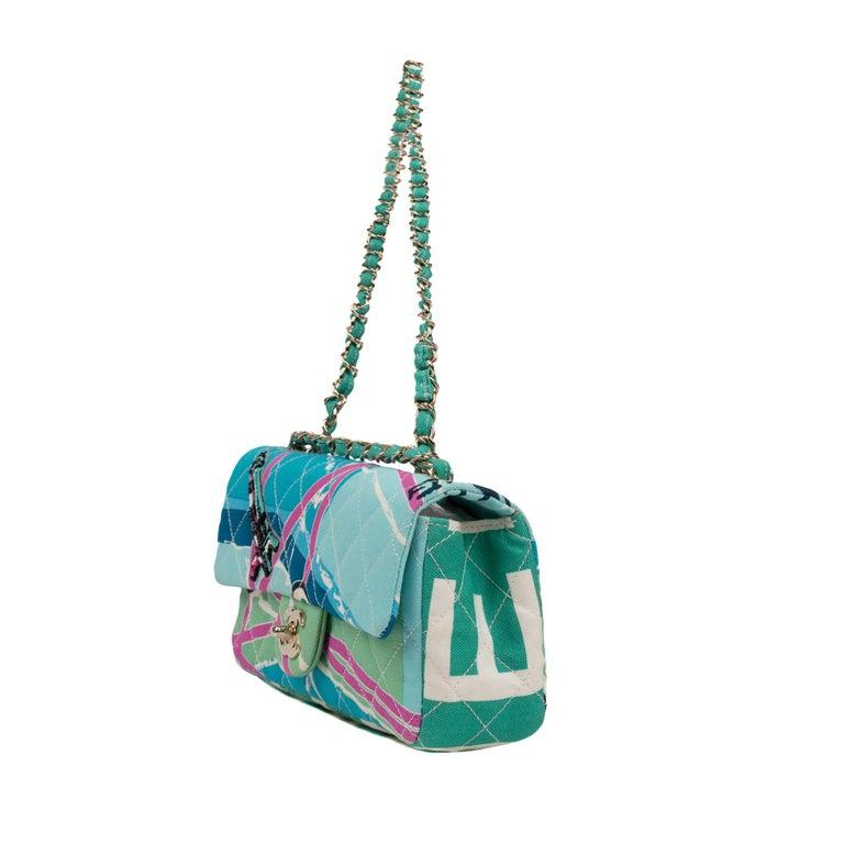 Chanel Canvas Shoulder Bag For Sale 1