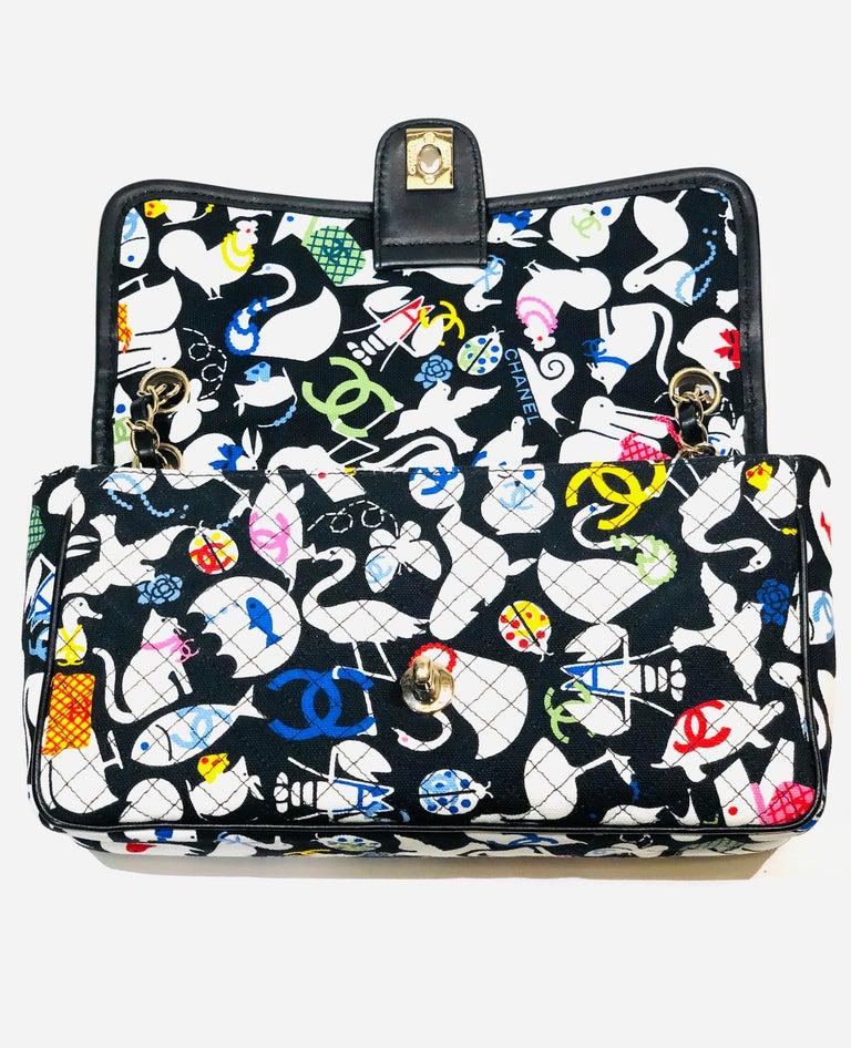 Chanel Printed Canvas Shoulder Bag  1