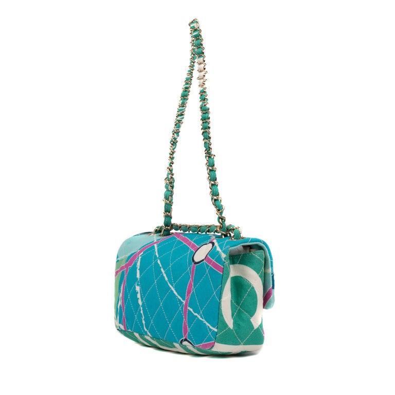 Chanel Canvas Shoulder Bag For Sale 2