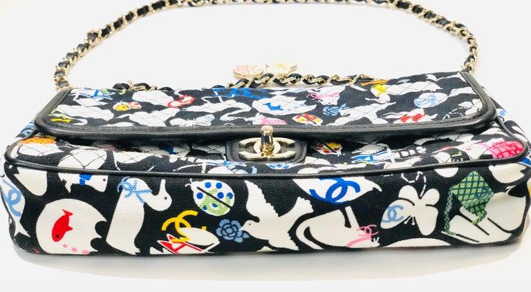 Chanel Printed Canvas Shoulder Bag  2