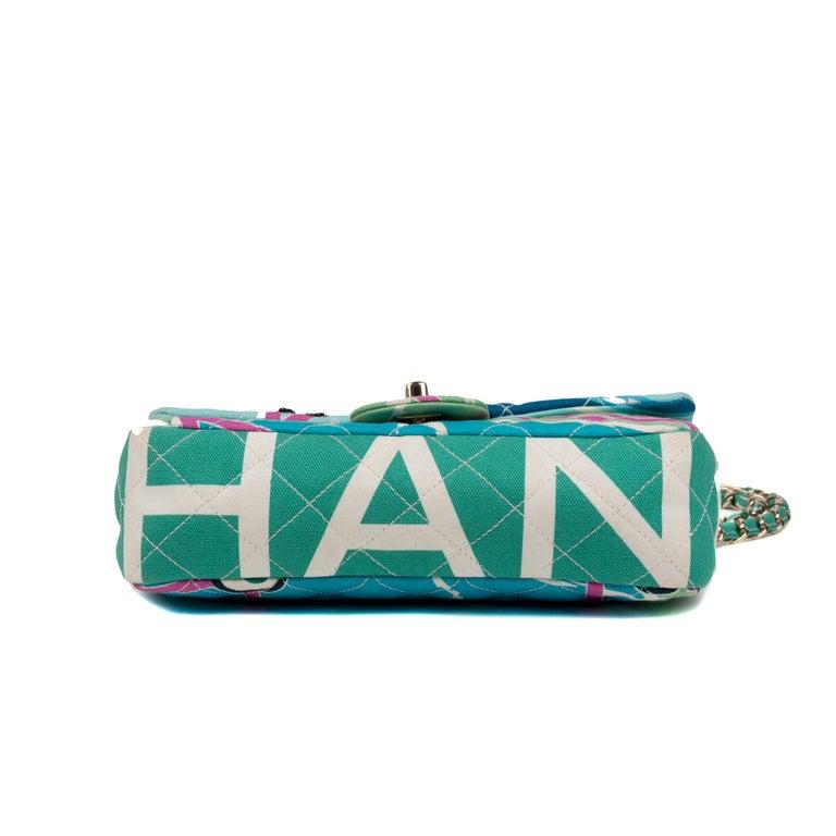 Chanel Canvas Shoulder Bag For Sale 3
