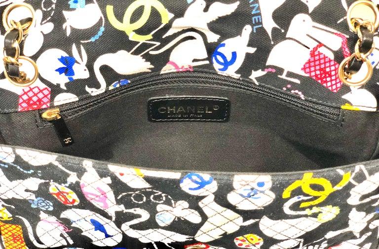 Chanel Printed Canvas Shoulder Bag  3