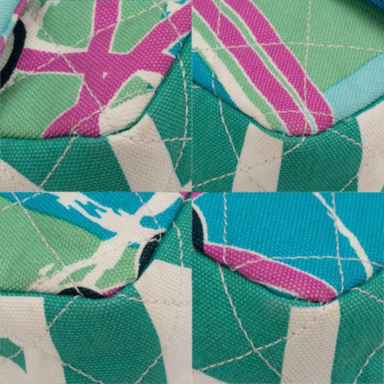 Chanel Canvas Shoulder Bag For Sale 4