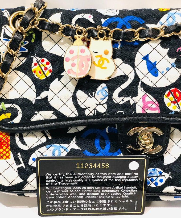 Chanel Printed Canvas Shoulder Bag  4