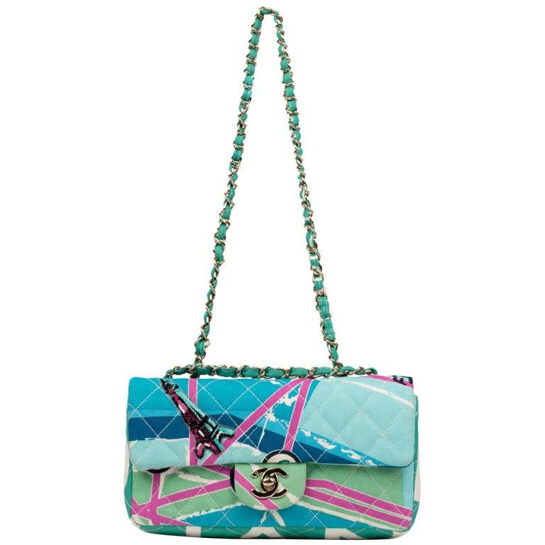 Chanel Canvas Shoulder Bag For Sale