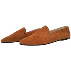 Chanel Caramel/Camel Color Suede Ballerine flats - NEW. Size 40 1/2