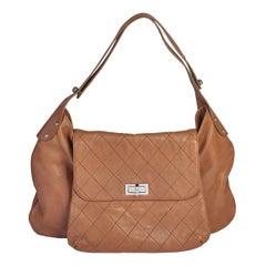 Chanel Caramel Flat Quilted Shoulder Bag