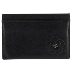 Chanel Card Holder Camellia Leather
