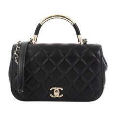 Chanel Carry Chic Flap Bag Quilted Lambskin Small