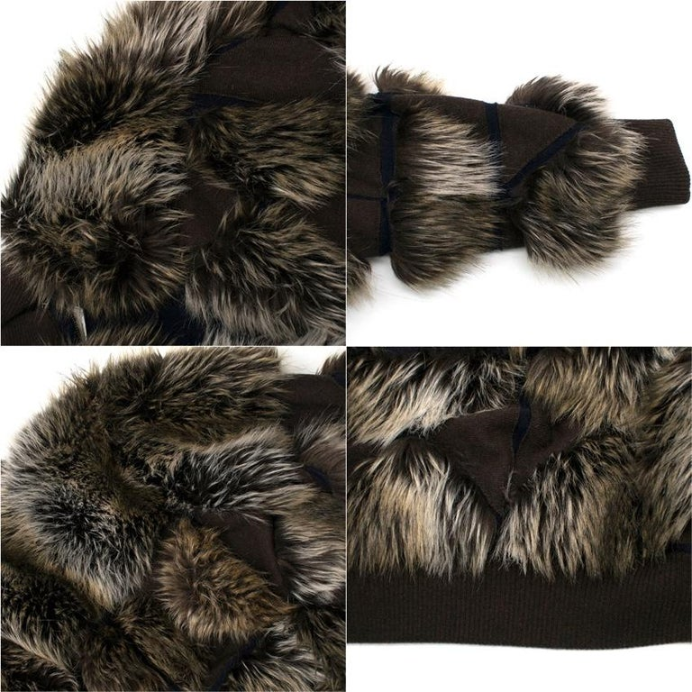 2ca1a306c Chanel Cashmere Faux Fur Bomber Jacket US 8