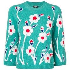 Chanel Cashmere Floral Jumper