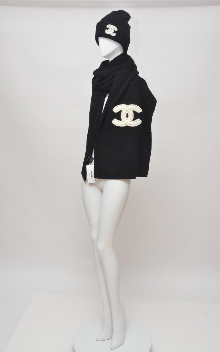 CHANEL Cashmere Hat & Scarf Shawl  New with tags attached and dust-bags 100% cashmere Made in Italy  FINAL SALE