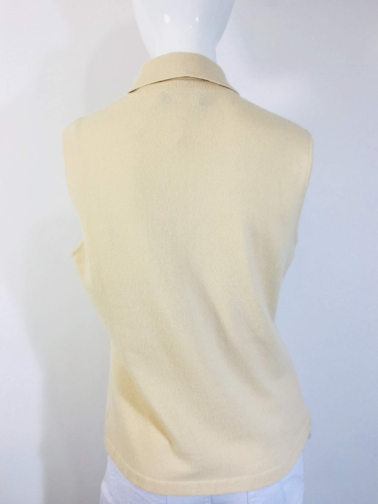 Women's Chanel Cashmere Tank Top For Sale