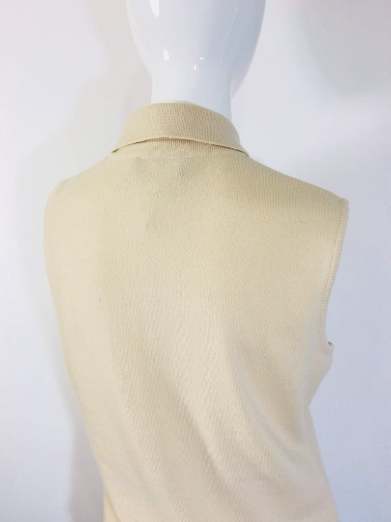 Chanel Cashmere Tank Top For Sale 2