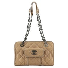 Chanel Casual Riviera Chain Shoulder Bag Quilted Calfskin