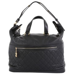 Chanel Casual Style Bowling Bag Quilted Caviar Large