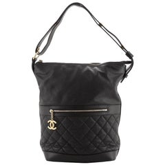 Chanel Casual Style Hobo Quilted Caviar Medium