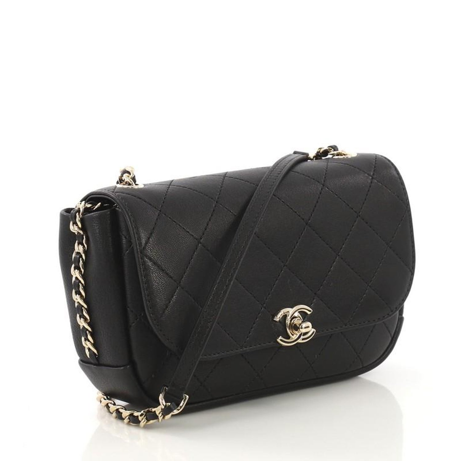 96b092c9bb1f Chanel Casual Trip Flap Bag Quilted Lambskin Small For Sale at 1stdibs