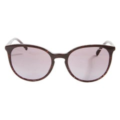 Chanel Cat Eye Plum Sunglasses White Pearl
