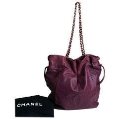 CHANEL Caviar 31 Drawstring Tote Large Shoulder Bag 2010