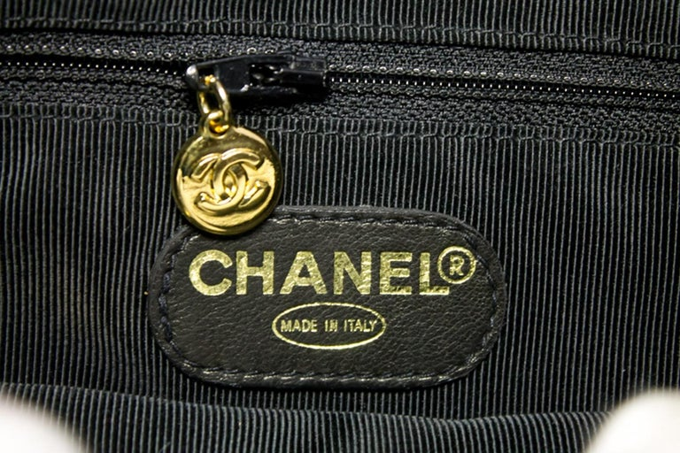 CHANEL Caviar Gold Chain Backpack Bag Black Triple Coco CC Leather For Sale 12