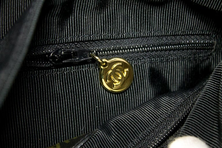 CHANEL Caviar Gold Chain Backpack Bag Black Triple Coco CC Leather For Sale 13