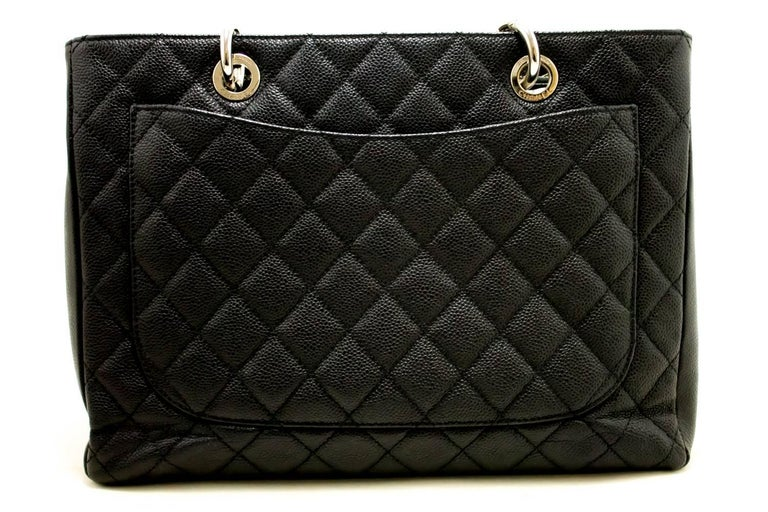 941afa49e18c ... Grand Shopping Tote Chain Shoulder Bag Black In Good Condition For. CHANEL  Caviar GST 13