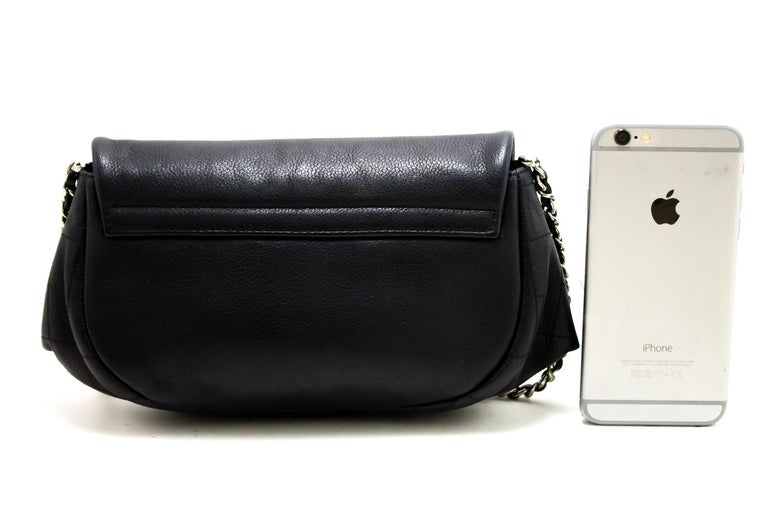 eb56759fc1d2 CHANEL Caviar Half Moon WOC Black Wallet On Chain Shoulder Bag In Good  Condition For Sale