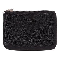 Chanel Caviar Leather Keychain O-Key Holder Wallet 2012