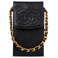 Chanel Caviar Leather Phone Case one size