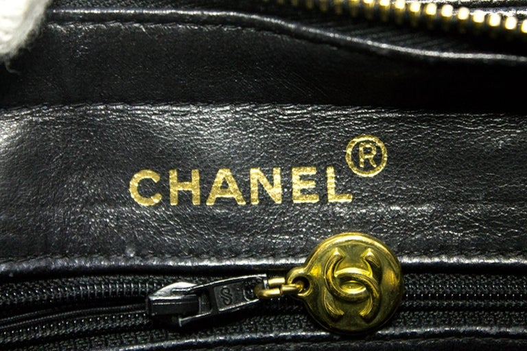 8cd22379d CHANEL Caviar Sun Gold Chain Shoulder Bag Black Quilted Leather For Sale 12