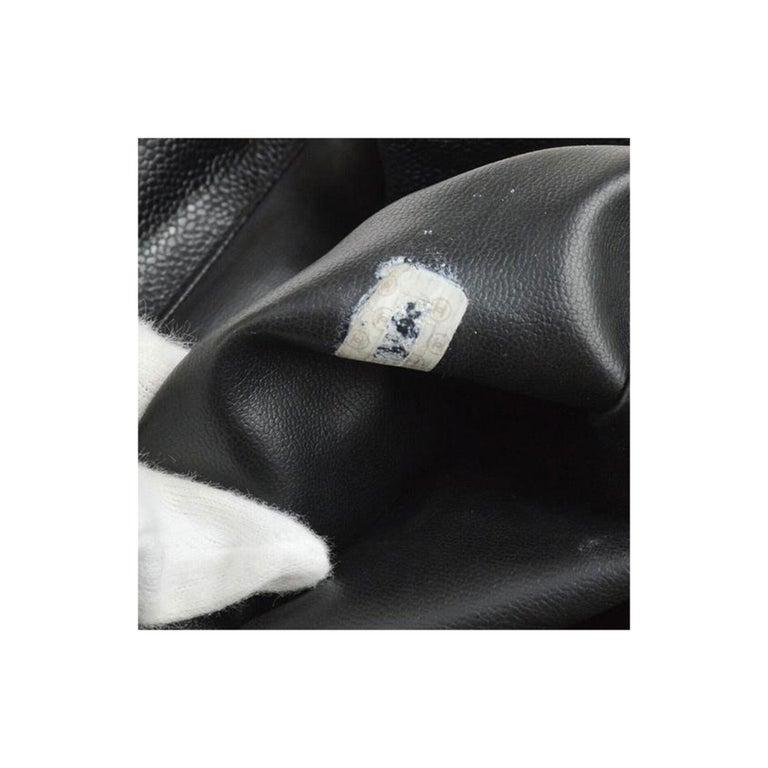 Chanel Caviar Vintage Black Leather Backpack For Sale 4