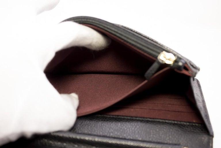 CHANEL Caviar WOC Wallet On Chain Black Shoulder Crossbody Bag Leather 13