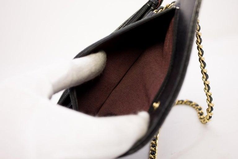 CHANEL Caviar WOC Wallet On Chain Black Shoulder Crossbody Bag Leather 15