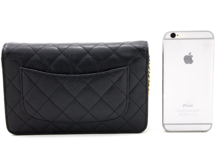 CHANEL Caviar WOC Wallet On Chain Black Shoulder Crossbody Bag Leather In Good Condition In Takamatsu-shi, JP