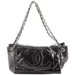 Chanel CC Accordion Flap Bag Patent Vinyl Small