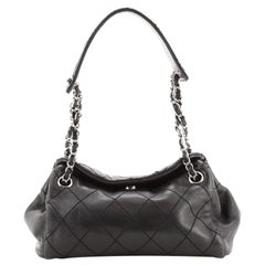 Chanel CC Accordion Shoulder Bag Quilted Lambskin Small
