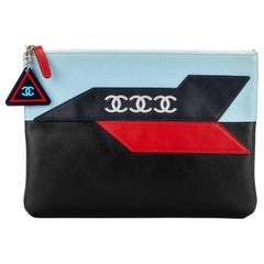 Chanel CC Airplane Multicolor Clutch Bag