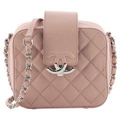 Chanel CC Box Camera Bag Quilted Lambskin Mini