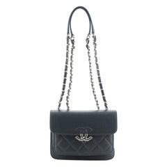 Chanel CC Box Flap Bag Quilted Caviar Mini
