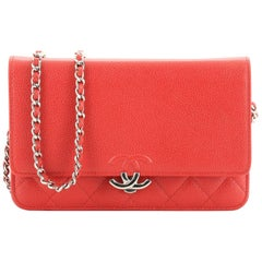 Chanel CC Box Wallet on Chain Quilted Caviar