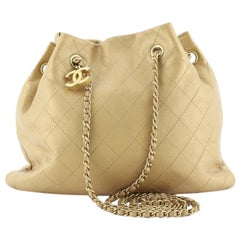 Chanel CC Bucket Bag Quilted Calfskin Small