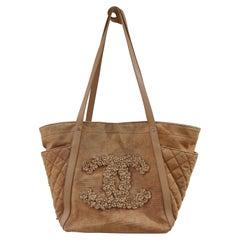 Chanel CC Camelia logo shoulder bag