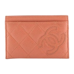 Chanel Timeless Card Holder Quilted Caviar