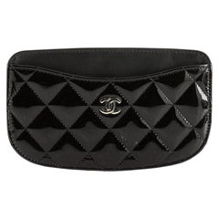 Chanel CC Card Holder Quilted Patent