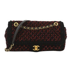 Chanel CC Chain Flap Bag Knit Fabric Medium