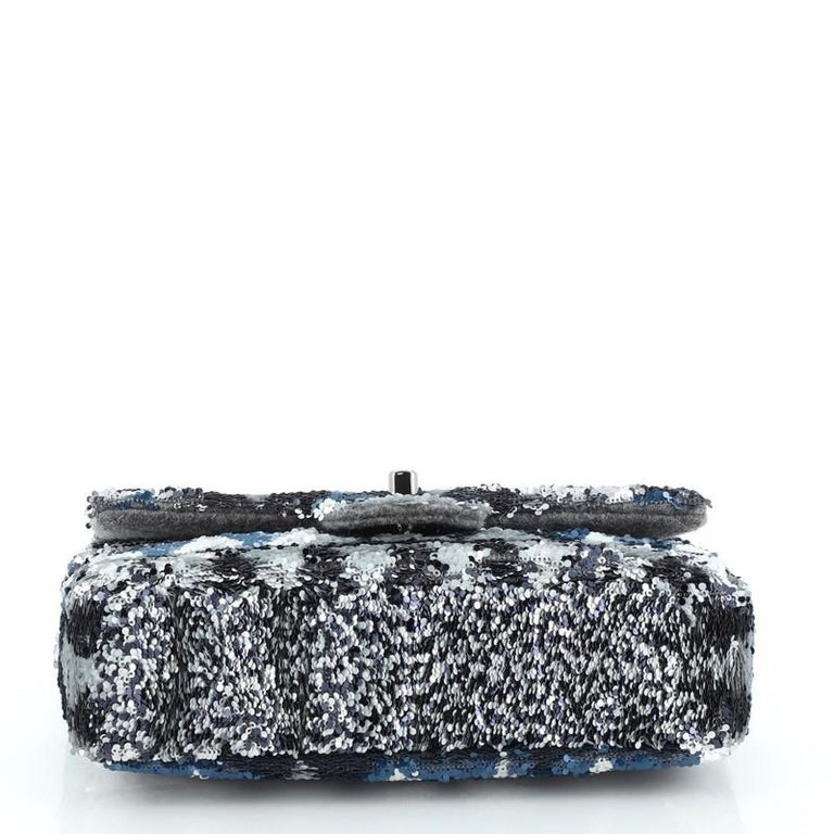 Women's or Men's Chanel CC Chain Flap Bag Multicolor Sequins Mini